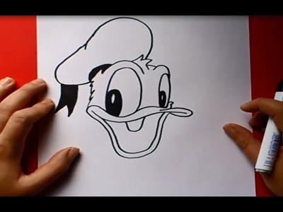 Como dibujar al pato Donald paso a paso | How to draw Donald duck