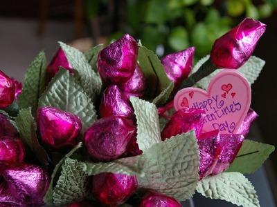 Cómo hacer ramo de flores tulipanes de Kisses de Hershey un lindo regalo