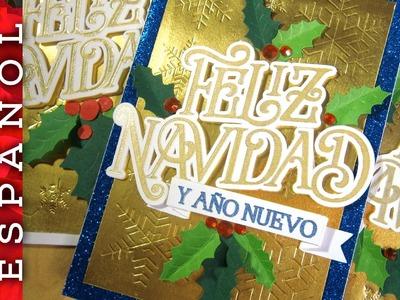 Cómo hacer Tarjeta de Navidad con la Silhouette Curio