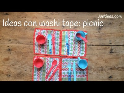 Ideas con WASHI TAPE: personalizar un PICNIC | Decorar con washi tape