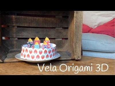 ORIGAMI fácil para niños: Vela | Origami 3D paso a paso