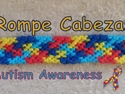 Pulsera de Hilo: Rompe Cabeza (Autism Awareness)
