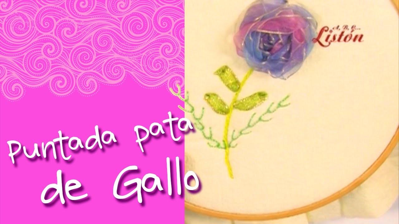 PUNTADA DE PATA DE GALLO