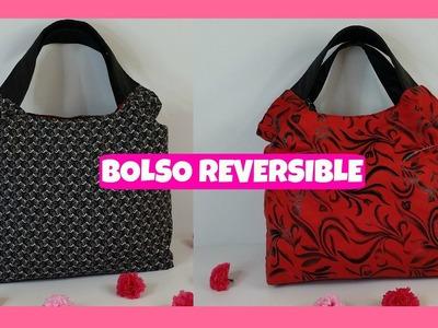 BOLSO REVERSIBLE - MOLDE GRATIS - REVERSIBLE BAG - FREE PATTERN - MI ATELIER