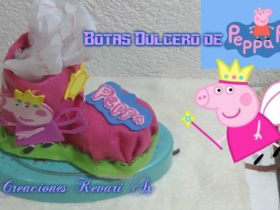 Bota Dulcero de Peppa Pig con material reciclado Botellas plásticas