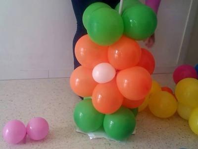 Columna con flores de globos