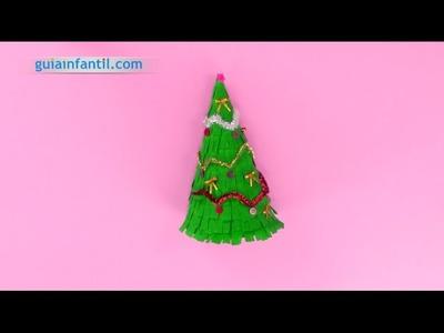 Cómo hacer un árbol de Navidad de papel | Manualidades infantiles