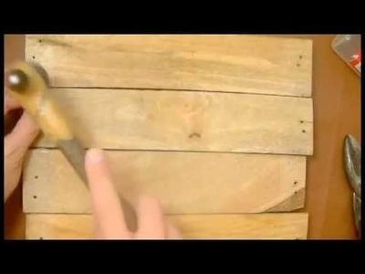 Como hacer un porta llaves reutilizando la madera