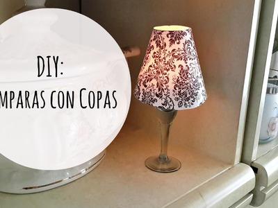 DIY: Decora tu Cuarto. Lámparas con Copas. Pantalla para Copas | El Baul de Carmencita