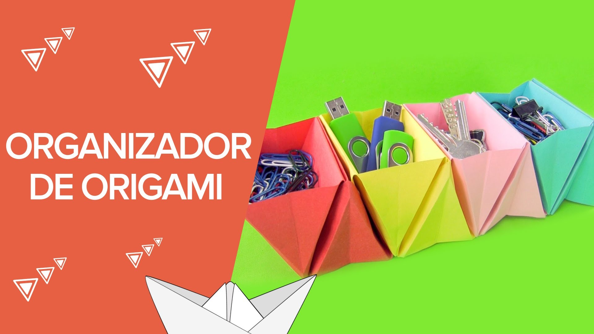 Organizador De Cartulina Paso A Paso Origami Para Niños