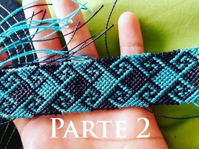 Pulsera doble ola griega tutorial | friendship bracelet tutorial  parte 2