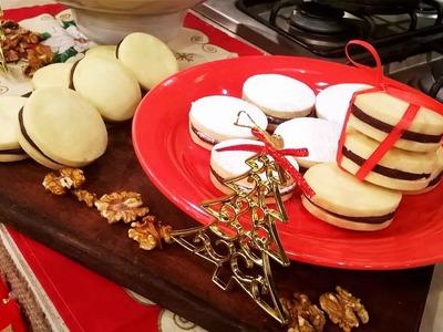 Alfajores rellenos con chocolate y leche condensada