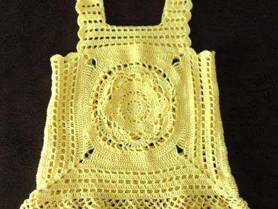 Como hacer blusa By Petus en crochet 1a. Parte