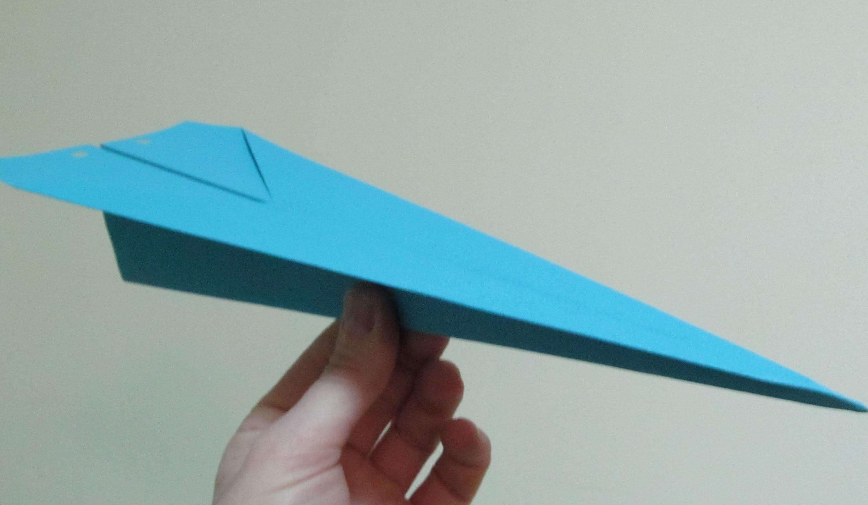 Como hacer un origami de papel super avion de papel paso - Como hacer jarrones de papel ...