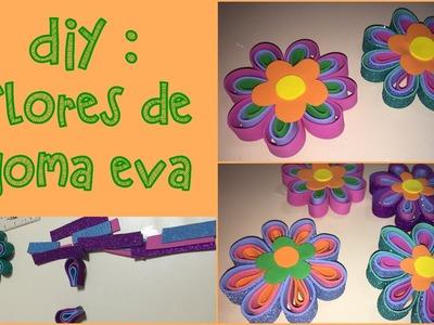 DIY : Flor de goma eva | Manualidades
