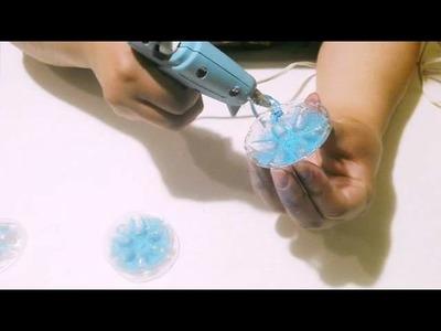 Esferas con botellas recicladas navidad2015