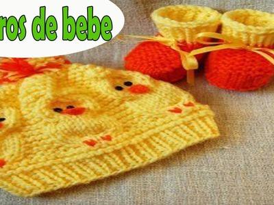 Gorros para bebe recien nacidos tejida a crochet ganchillo diseños imagenes