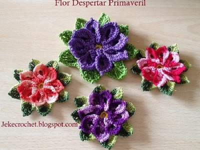 Paso a paso - Flor Despertar Primaveril - Crochet o Ganchillo