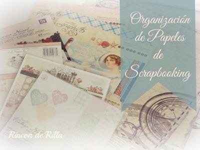 Scrapbooking: Como organizar los papeles y cartulinas