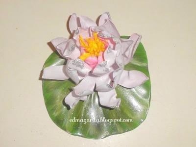 Tutorial: Flor de Loto con botella de plastico