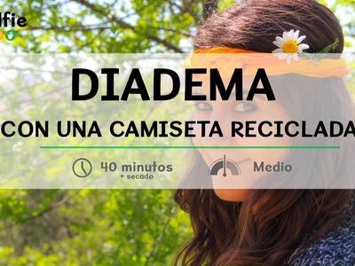Cómo hacer una diadema con una camiseta reciclada · Handfie DIY