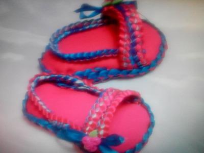 Como hacer Zapatitos para bebe tipos sandalia # 4. Diy Shoes Baby