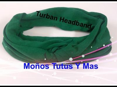 DIADEMA TURBANTE Paso a Paso TURBAN HEADBAND Tutorial DIY Turbante hecho con camiseta