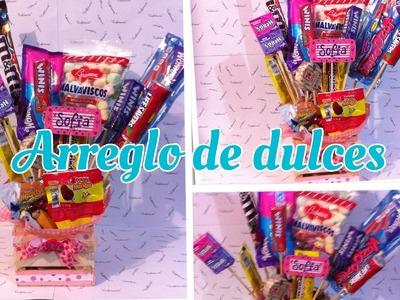 DIY Arreglo de dulces. día del niño