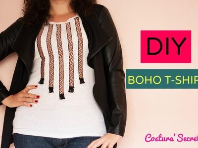 DIY BOHO T-SHIRT | DIY Camiseta boho chic