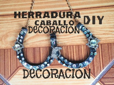 DIY Decora herradura de caballo Regalo Dia del Padre fácil horseshoe decoration