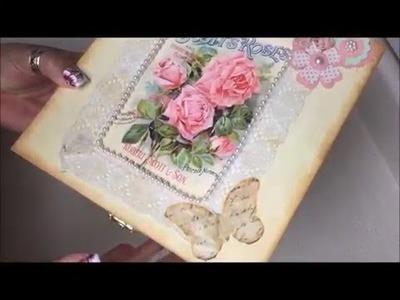 Diy:Decoracion de cajita vintage para el dia de las madres(Mother's Day)
