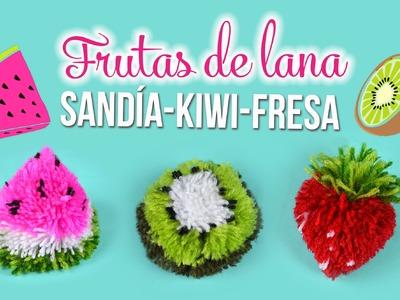 DIY Frutas de lana.Sandía Kiwi Fresa  | DREEN