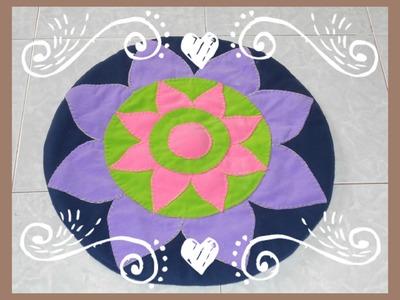Alfombra en tela, como hacer mandalas, manualidades en tela facil, manualidades con tela