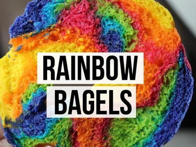 Bagels de Colores | Rainbow Bagels | RebeO