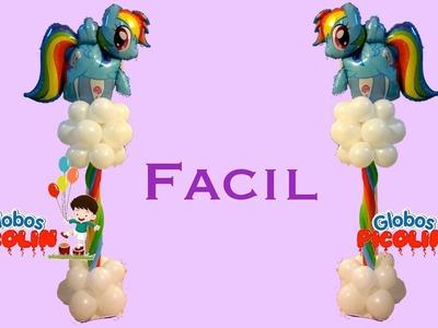 Columna de rainbow dash con globos # 25
