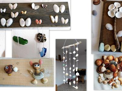 Manualidades con reciclaje conchas y caracoles - Movil de reciclaje - Tips de felicidad