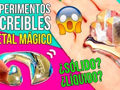 10 INCREIBLES EXPERIMENTOS CASEROS de QUIMICA con GALIO