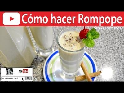 CÓMO HACER ROMPOPE | Vicky Receta Facil