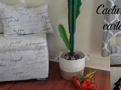 Como hacer un cactus de cartón. Room decor. Manualidades recicladas