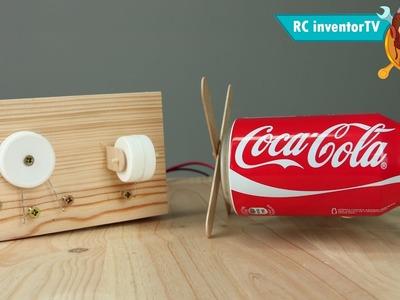 Cómo Hacer un Coche. Robot Eléctrico Casero - ( De Tres Ruedas )