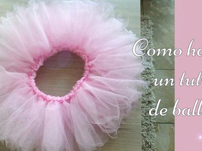 Como hacer un tutu de ballet sin maquina de coser!