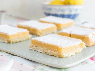 Cuadraditos de limón o Lemon Bars - Receta en un minuto - María Lunarillos | tienda & blog
