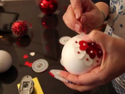 Decora tus propias bolas de Navidad