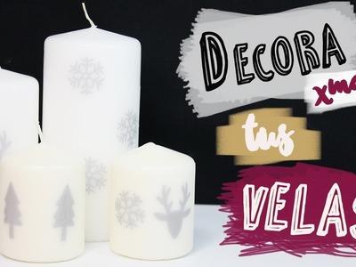 Decoración para Navidad DIY | Decora velas con papel