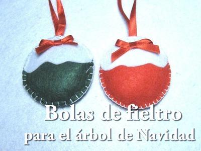 #DIY Bolas de fieltro para el árbol de Navidad#DIY Felt balls for the Christmas tree