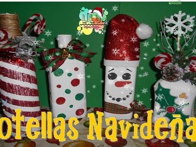 DIY - Botellas Navideñas♥♥ | Especial Día de Navidad