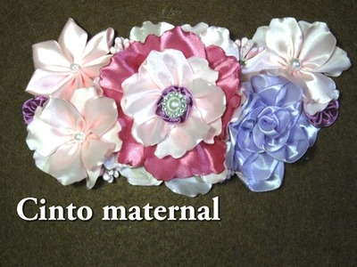 #DIY - Cinto maternal rosa, fucsia, morado#DIY - Maternal belt pink, fuchsia, purple