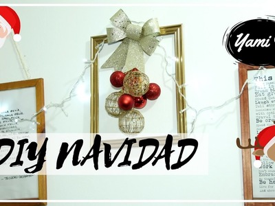 DIY: Cuadro Navideño para decorar. How to make a Christmas Ornament  | #FemLife ♡