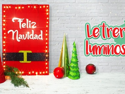 DIY: Letrero LUMINOSO navideño - ESPECIAL DE NAVIDAD