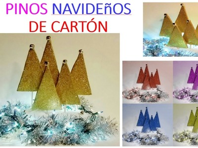 DIY: PINOS NAVIDEñOS EN MINUTOS. DIY Christmas Decoration Ideas - Little Christmas Trees